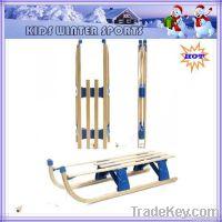 Foldable wooden snow sledge
