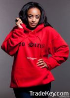 WOMENS RED - NO STRESS HOODIE