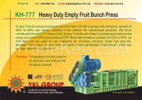 KH-777 Heavy Duty Empty Fruit Bunch Press