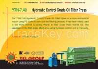 YTH-7.40 Hydraulic Control Crude Oil Filter Press