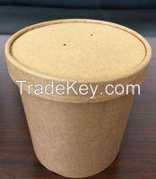 Take away disposable paper bucket