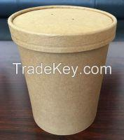 Takeaway disposable paper bowl