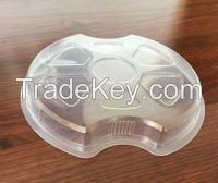 Take-out disposable paper soup container/bento lunch box punched Lid/F