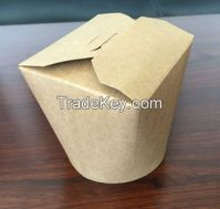Deli/portable food Craft lunch box/PLA takeway pail/food container