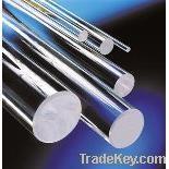Clear fused quartz rod