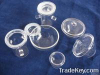 Clear quartz crucibles for melting