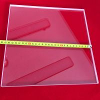 Wholesale clear square quartz glass plate