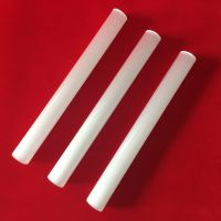 Customized milky white quartz glass tube
