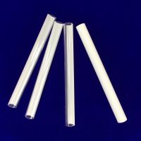 White plated quartz glass tube made in China