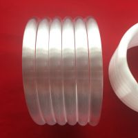 Milky white spiral quartz glass tube