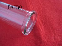 Clear quartz glass tube with flange