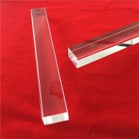Clear square quartz glass rod