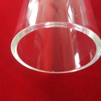 Big size clear quartz glass tube