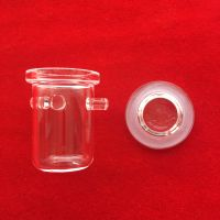 High quality clear quartz glass crucible