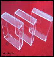 hot selling transparent silica glass container supplier