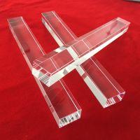 High purity rectangle clear quartz glass rod
