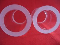 flat grinded custom size transparent fused silica glass sleeve