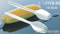 Biodegradable Disposable Cornstarch Plastic Cutlery Knife Fork Spoon