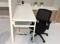 """Office P shape legs for 24"""" and 30"""" worksurface"""
