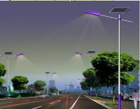 solar double LED street light