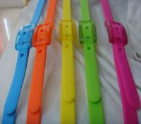 perfumed colorful silicone gift belts