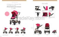 Deluxe 3 in 1 funtion Baby Strollers with Ultimate comfort
