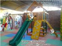 wooden playground W113