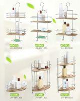 bathroom rack with bamboo