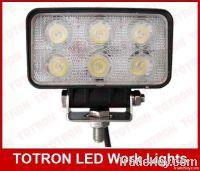 """3.5"""" 18W 9-32V Rectangle LED Work Light"""