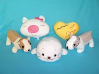 Stuffed Toys Filled With Polystrene Foam Beads - Dog Pig Seal