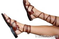Brown Gladiator Leather Sandals
