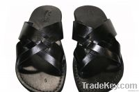 Black Capri Leather Sandals
