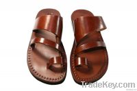 Brown Thong Leather Sandals