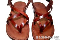 Brown Mix Leather Sandals