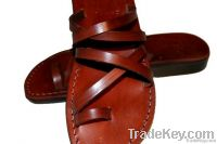 Brown Buckle Free Leather Sandals
