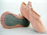 pink canvas full sole ballet shoe/dance shoe