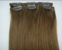 20 inch 2pcs  HUMAN HAIR CLIP IN EXTENSION 30g