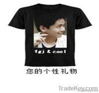 100% cartoon short sleeve T-shirt O-neck advertising