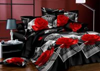 Disappear printed 100%polyester bedsheet set/3d printed bedsheet set/cheap bedsheet set