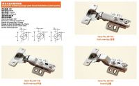Hydraulic buffering hinge with Fixed Installation plate series