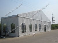 party tent 20x40m with transparent windows and glass door