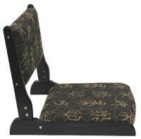 Japanese Tatami Chair with Black Chinese letter