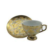 Eletrocplating golden 76pcs porcelain bone china dinner set royal pakistan ceramic sets