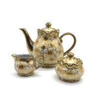 Eletrocplating golden 24pcs porcelain teaset  pakistan