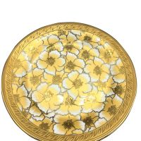 Eletrocplating golden ceramic plate dinner plate set