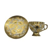 Eletrocplating golden 180cc tea cup and saucer set for  pakistan