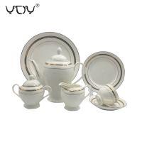 middle east pakistani turkish ceramic 24pcs tea set new bone china