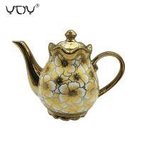 Eletrocplating golden  Arabic porcelain coffee ceramic tea pot for sale