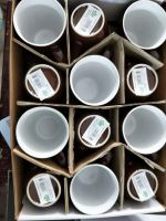 Wholesale 11oz ceramic blue brown color mug round shape
