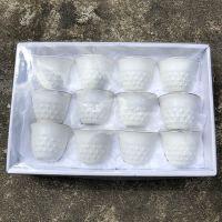 wholesale 12pcs gift box luxury golden rim white ceramic arabic cawa tea cup set